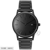 【台南 時代鐘錶 SIGMA】簡約時尚 藍寶石鏡面 日期顯示 鋼錶帶男錶 1737M-B 黑鋼 41mm