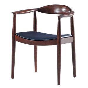 【YFS】莎碧娜實木椅-59x56x76cm(兩色可選)深胡桃
