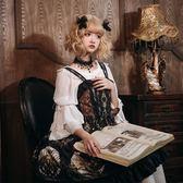 洛麗塔洋裝Lolita連身裙月之祭臺宮廷吊帶裙【步行者戶外生活館】