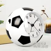 漢時鬧鐘創意學生靜音鬧鐘簡約床頭足球小鬧鐘兒童卡通時鐘HA09 衣櫥秘密