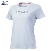 (C4) MIZUNO 美津濃 女款 短袖T恤 運動上衣 排汗衫 抗紫外線 抗臭 32TA120101白 [陽光樂活]