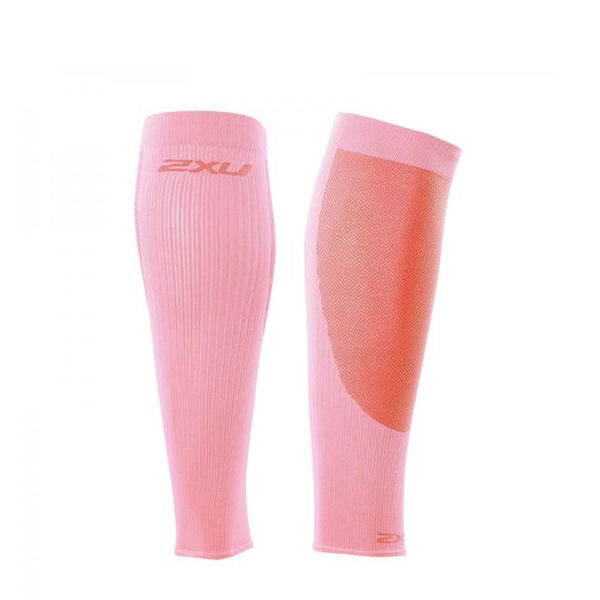 2XU 壓縮跑步專用小腿套 粉紅色【好動客】