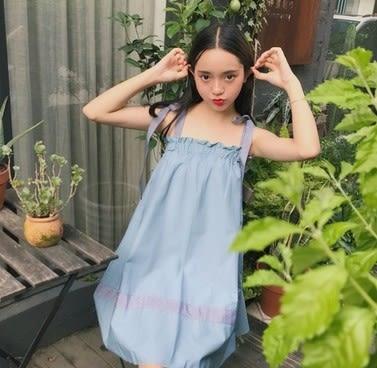 EASON SHOP(GU6287)三種穿法拼色綁帶鬆緊腰連身裙女收腰中長款一字領吊帶裙平口洋裝韓版寬鬆
