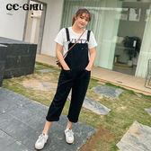 中大尺碼  黑色吊帶背心長褲 - 適XL~4L《 68029 》CC-GIRL