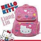 【Hello Kitty】 雙層透氣護脊書包/小學生後背書包407483