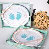 新生兒手腳印泥胎毛寶寶手足印胎發嬰兒百天滿月紀念手印相框擺臺  朵拉朵衣櫥
