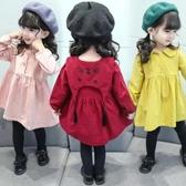 女童連衣裙2019秋裝新款小女孩兒童女小童超洋氣公主裙子純棉布裙