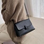 斜背包 法國小眾包包女新款復古鎖扣鍊條小方包簡約百搭側背斜背小包 suger