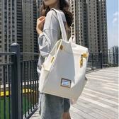 牛津布女雙肩包韓版百搭大容量高中生背包時尚潮流大學生書包