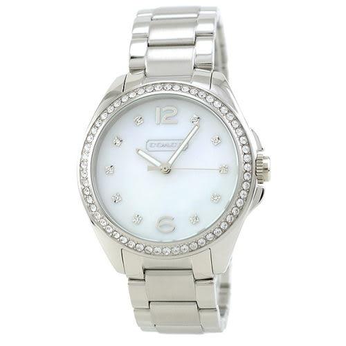 COACH 【 發燒新品】夏日繽粉銀白LOGO面盤女錶36MM14501660