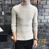 高領毛衣男士高領毛衣兩翻領打底衫緊身針織衫線衣男裝 聖誕交換禮物