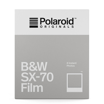 【過期品】Polaroid B&W Film for SX-70 黑白底片(白框4677)/2盒