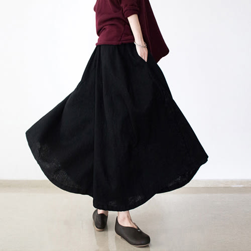 褲裙-文藝棉麻亞麻復古禪意寬管茶服大襬大碼/設計家