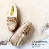 豆豆鞋 羊毛絨平底-甜美時尚流蘇保暖真皮女休閒鞋6色72o12【巴黎精品】
