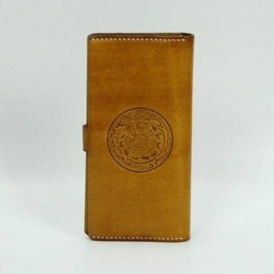 真皮皮夾(長夾)-復古壓花對折大容量男錢包73qs46【時尚巴黎】