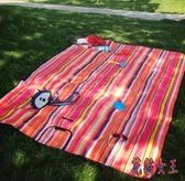 超耐磨折疊野餐墊 防潮墊防水牛津布戶外野餐毯 QX15831 【花貓女王】
