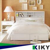 床組/單人加大3.5尺【宮本】多隔間加高 二件組(床頭箱+六分底)~台灣自有品牌-KIKY~Miyamoto 床底 床架