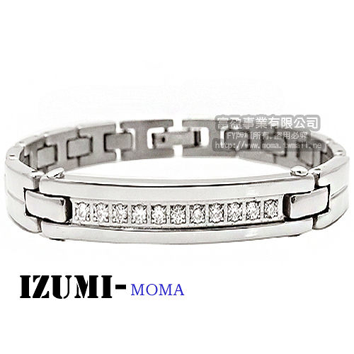 MOMA-【IZUMI】系列純鈦鍺磁手鍊-IS008M寬版