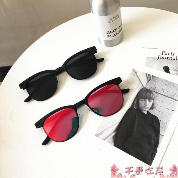 墨鏡韓國百搭經典男士墨鏡簡約歐美復古風潮男方形太陽鏡男女同款眼鏡 芊墨左岸