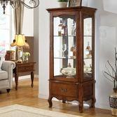 紅酒櫃 美式實木紅酒櫃單門玻璃展示櫃 歐式酒櫃家用客廳裝飾櫃餐邊櫃 MKS夢藝家