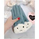 手套女冬天保暖加絨加厚日系騎車學生防寒秋用觸屏可愛韓版棉手套
