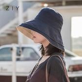 雙面漁夫帽女夏韓版百搭日繫防紫外線