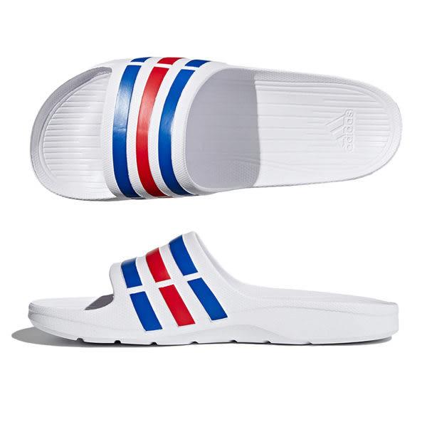 Adidas Duramo Slide 男 女 經典休閒拖鞋 白 藍 紅 大尺碼 U43664