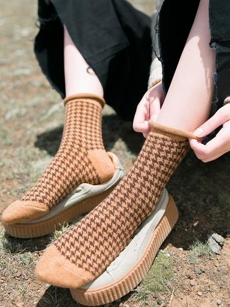 堆堆襪女韓國秋冬潮流個性中筒襪韓版日系復古加絨加厚保暖羊毛襪 喵小姐