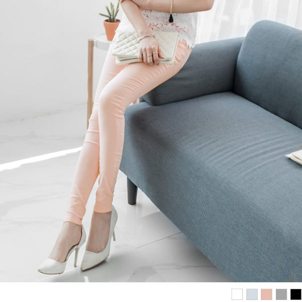 OB嚴選《BA2260-》輕柔彈力美尻鬆緊窄管褲‧5色--適 S~XL