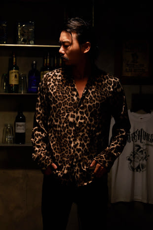 【GOZER Taiwan】OPEN LEOPARD SHIRT 豹紋長袖襯衫 (咖啡色) 現貨