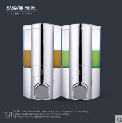 壁掛皂液器洗髮水沐浴露盒手動給皂器廚房家用洗手液器