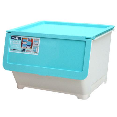 ★2件超值組★KEYWAY大前開式整理箱-藍【愛買】