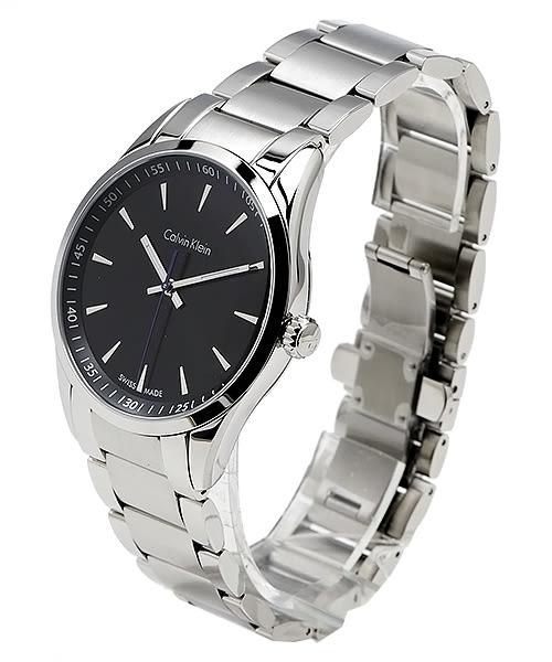 CK Calvin Klein  Bold 系列 經典時尚男性手錶 (K5A31141) -黑面x銀色/40mm