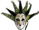 舞會面具威尼斯面具高檔手工彩繪面具-綠色 聖誕節萬聖節化妝舞會派對表演服裝道具