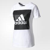 Adidas ESS LOGO LO TEE [S97229] 女 運動 休閒 圓領 短袖 上衣 舒適 棉T 愛迪達 白