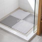 洗澡間浴室防滑墊 拼接方形家用衛生間隔水地墊 淋浴房衛浴腳墊 俏腳丫