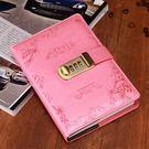 日記帶鎖密碼筆記本子成人商務加私密隨身秘...