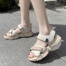 運動涼鞋女軟底輕便2020夏季新款韓版小熊底涼鞋學生魔術貼沙灘鞋