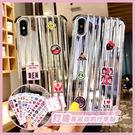 【手機殼王國】iPhone6/7/8/X/Xs/XsMax/Xr 新款 潮牌 電鍍金銀色行李箱手機殼 蘋果殼