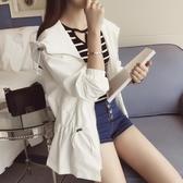 風衣中長款女韓版春季學生百搭新款春夏寬鬆休閒薄款bf外套潮