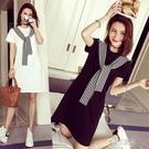 短裙洋裝 2021年韓版夏款中長款女士短袖T恤打底衫女式外貿女裝洋裝 16原本
