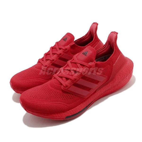 adidas 慢跑鞋 Ultraboost 紅 黑 男鞋 Boost 頂級緩震舒適 運動鞋【ACS】 FZ1922