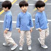 (交換禮物)漢服童裝兒童唐裝男童套裝中小童中國風寶寶春秋季周歲禮服民族風