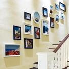 創意樓梯間背景牆面照片牆裝飾畫歐式實木相冊相框掛牆組合連身掛 果果輕時尚NMS