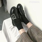 紳士鞋ins小皮鞋女復古chic英倫風秋冬2019新款學生韓版百搭ulzzang 萊俐亞美麗