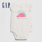 Gap嬰兒童趣印花信封領連體衣580539-媽媽印花