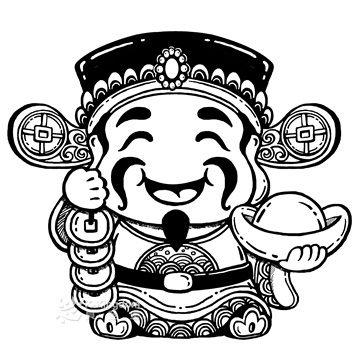 【貝登堡】楓木印章/木頭印章/木頭章 財神爺 FT-3793