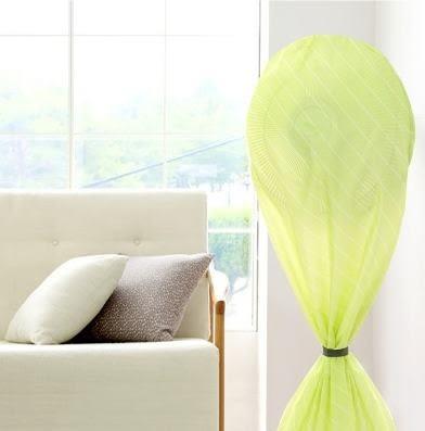 預購 - SAFEBET全包式清新馬卡龍條紋風扇防塵罩 家用防污防髒風扇罩(小號)