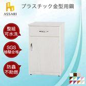 ASSARI-水洗塑鋼緩衝一門1抽碗碟櫃(寬43深42高81cm)綠