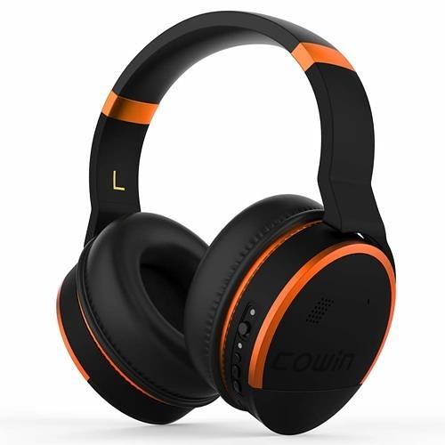 【美國代購】COWIN E8 有源降噪耳機藍牙耳機 麥克風Hi-Fi 20小時 播放時間 - 橙色
